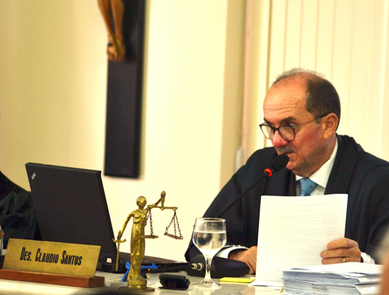 Desembargador Cláudio Santos distribuiu resolução para análise do Pleno
