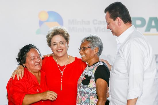 Foi a primeira vez que Dilma visitou a capital de Roraima após assumir a Presidência
