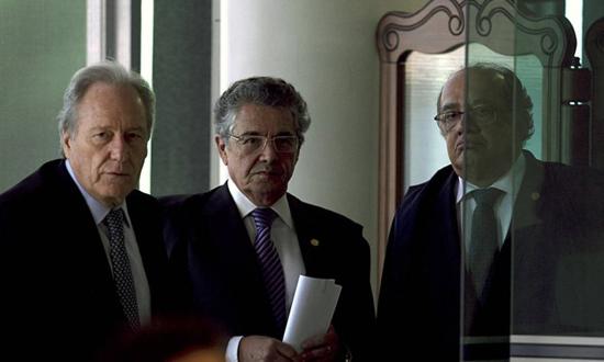 Ministros Ricardo Lewandowski, Marco Aurélio Mello e Gilmar Mendes integrantes do STF