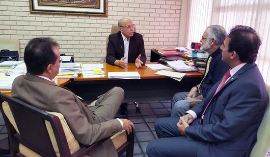 OAB em reunião na Sejuc