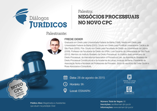 cartaz do evento dialogos juridicos 5edicao