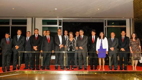 Dilma com governadores aliados
