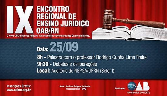IX Encontro Regional de Ensino Jurídico