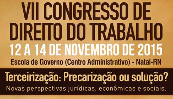 banner VII congresso de Direito Trabalhista