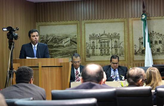 16/02/2016 - PREFEITURA DO NATAL - Leitura anual do Prefeito Carlos Eduardo, no plenário da Câmara Municipal - Foto: Alex Régis/ SECOM