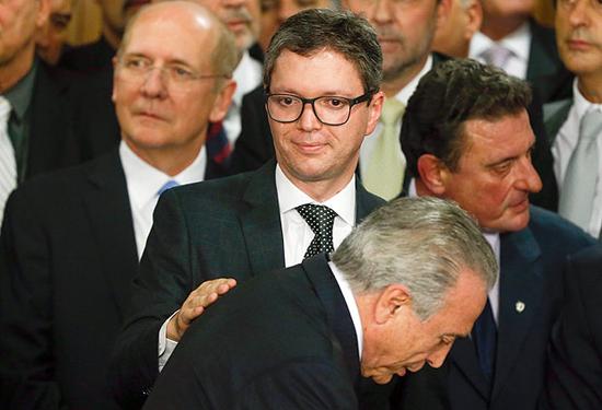 Ex-ministro Fabiano Silveira, da Transparência no dia da posse