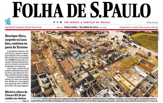 Capa da Folha 07062016