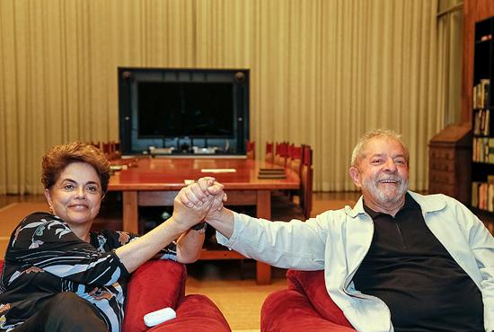 Dilma e Lula no domingo antes de depoimento no Senado