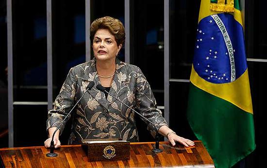 Dilma no Plenário do Senado