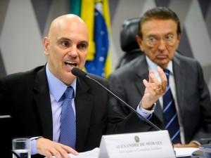 Alexandre de Moraes na CCJ do Senado