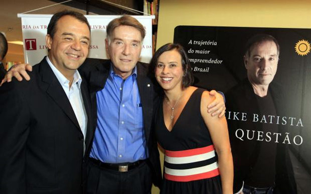 Cabral, Eike Batista e Adriana Ancelmo