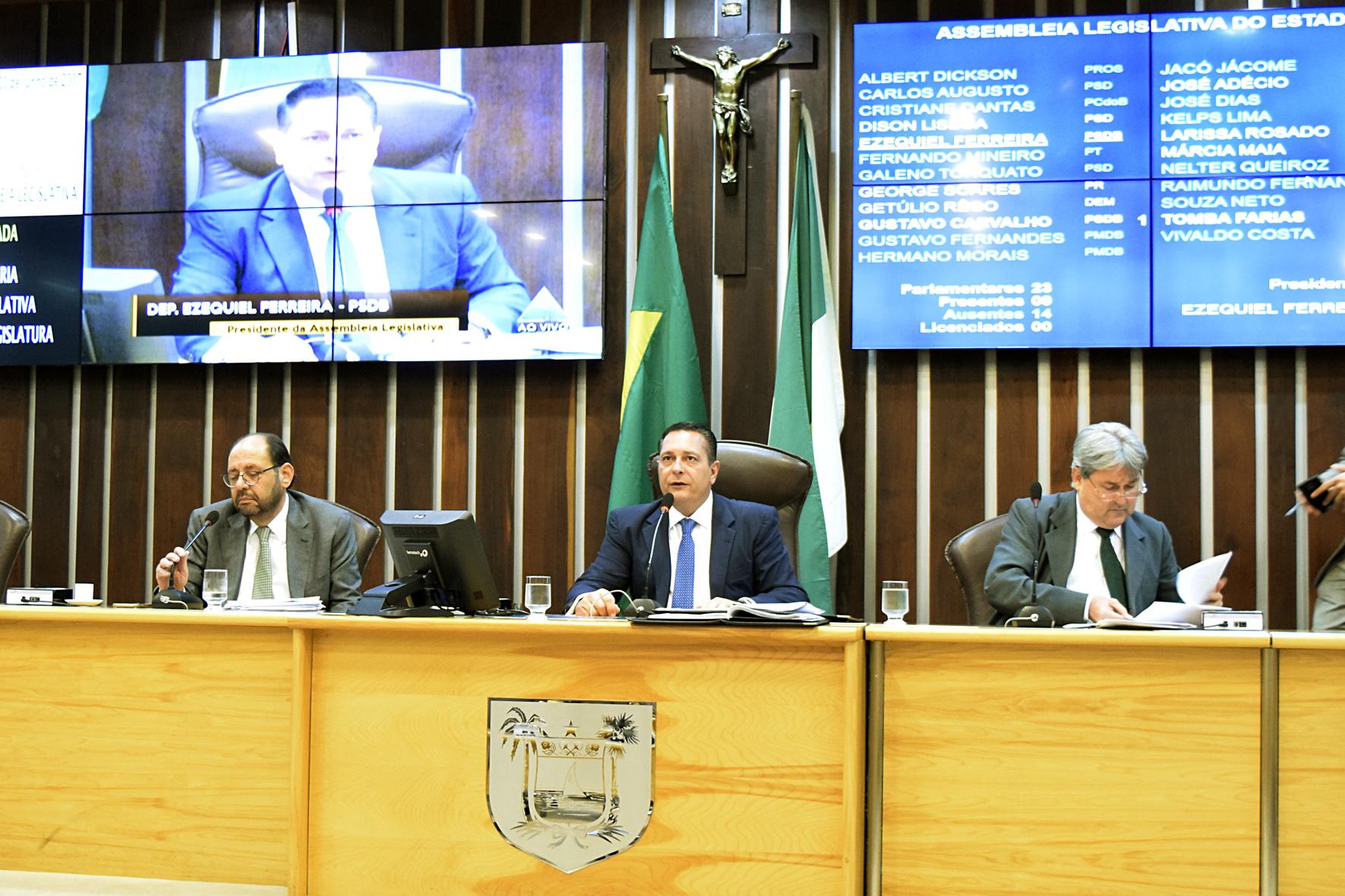 EZEQUIEL FERREIRA APRESENTA MOÇÃO DE PESAR PELA EX-GOVERNADORA WILMA DE FARIA