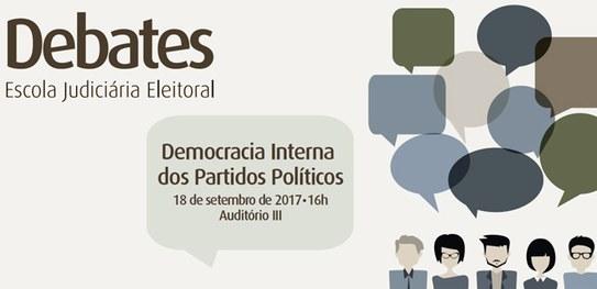 Debate sobre Democracia Interna dos Partidos será transmitido ao vivo pelo YouTube