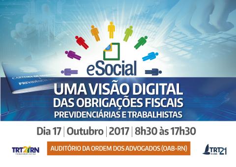 Seminário vai discutir implantação do e-Social em órgãos públicos