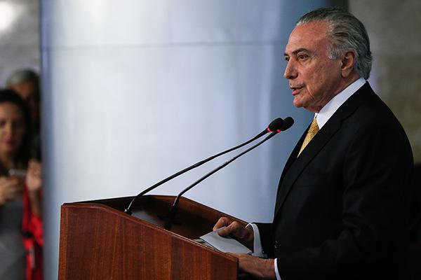 Brasília -  Reunião com representantes do setor da indústria e centrais sindicais. Palavras do Presidente da República, Michel Temer ( Beto Barata/PR)