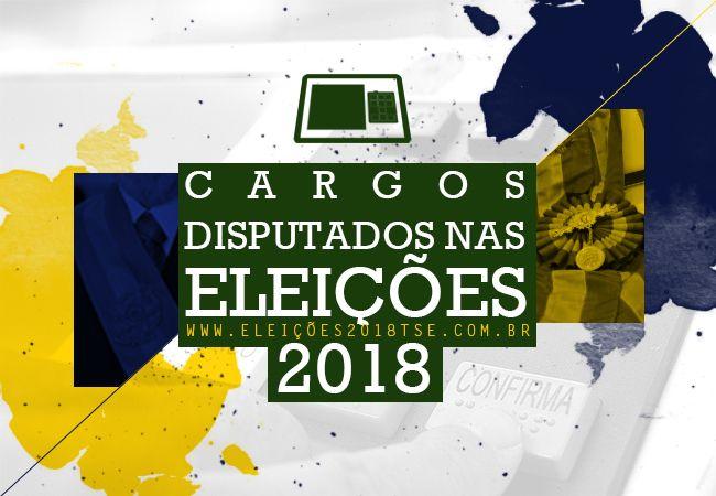 Conheça as atribuições dos cargos que estarão em disputa nas Eleições 2018