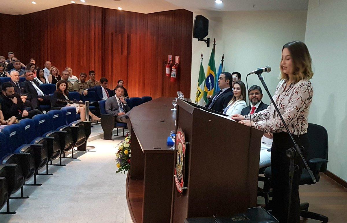 Tânia Fogaça é empossada como comandante da Polícia Federal no RN