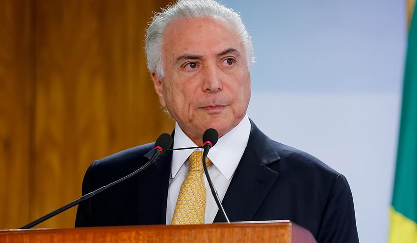 (Brasília - DF, 16/02/2018) Assinatura de Decreto de Intervenção Federal no estado do Rio de Janeiro, com o objetivo de por termo ao grave comprometimento da ordem pública.  Foto: Marcos Corrêa/PR