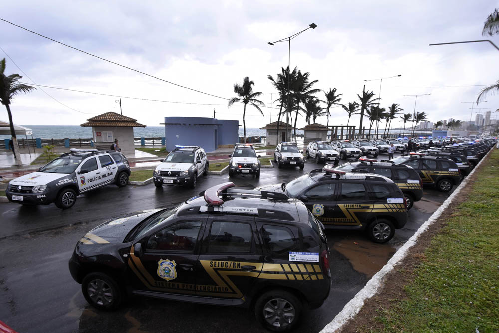 Doação de 50 viaturas pela Assembleia Legislativa do RN reforça segurança do Estado