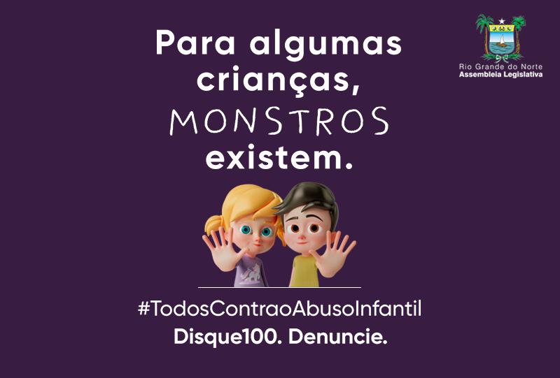 Campanha de combate ao abuso infantil é lançada pela Assembleia do RN
