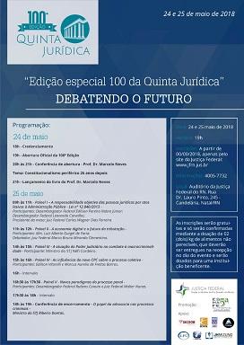 Contagem regressiva para edição 100 da Quinta Jurídica
