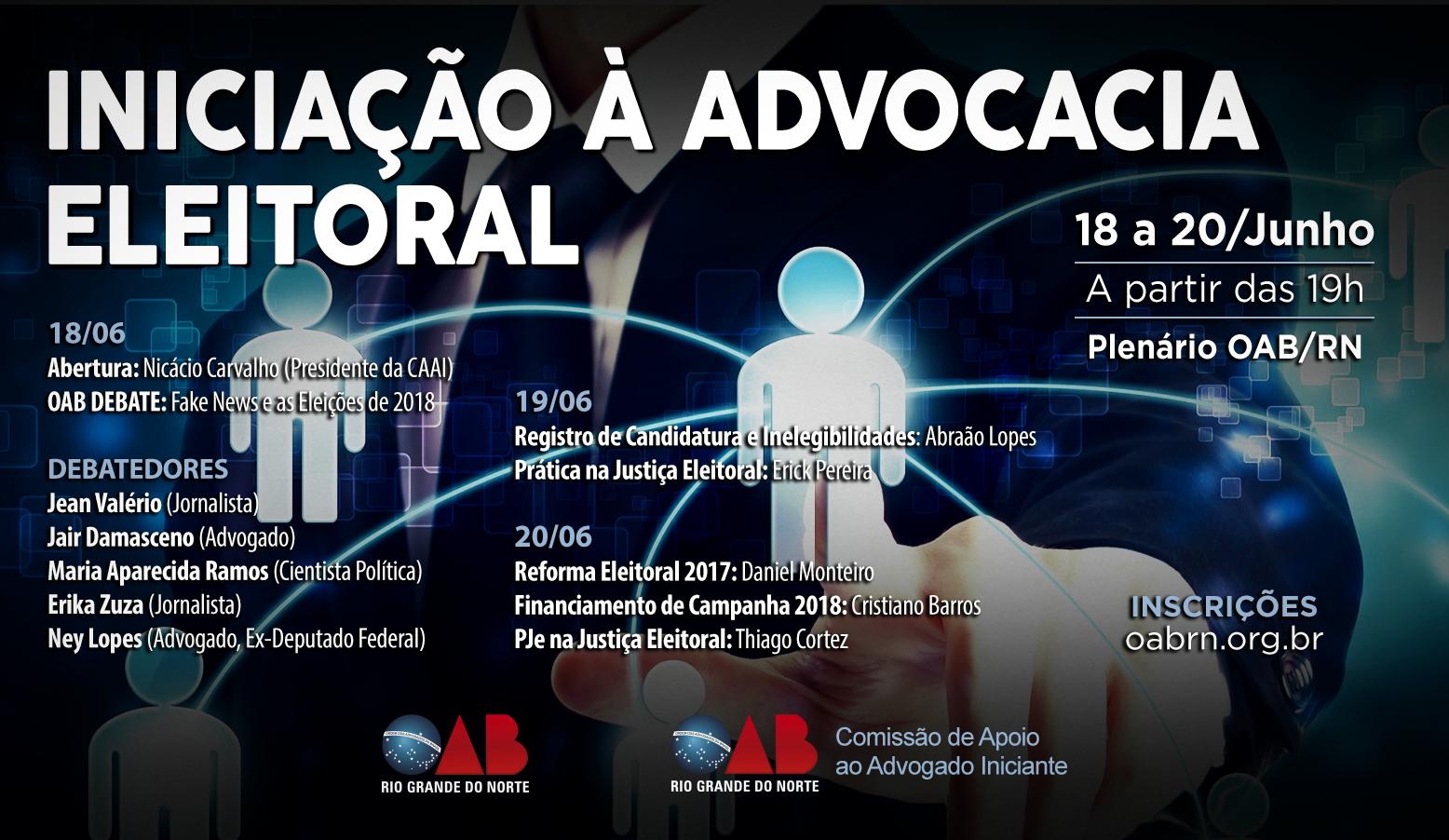 Direito Eleitoral é o tema do próximo Curso de Iniciação à Advocacia