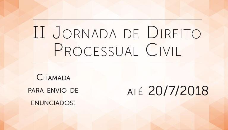 Jornada de Direito Processual Civil inscrições abertas!