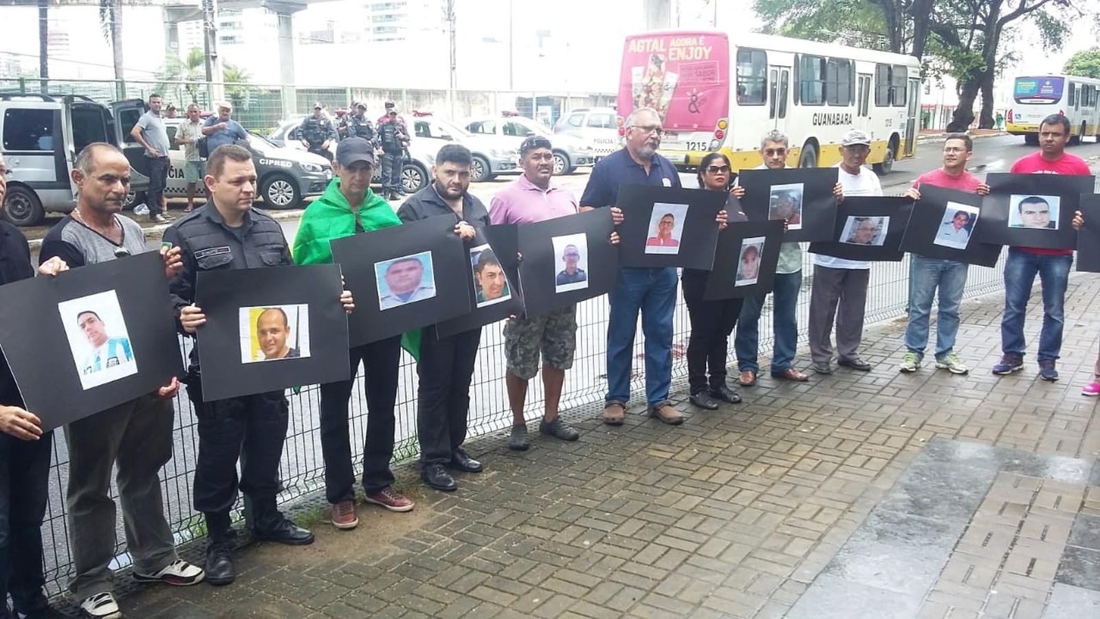 Protesto agentes de segurança