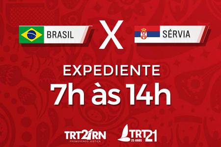 TRT-RN Expediente desta quarta (27) será das 7 às 14h