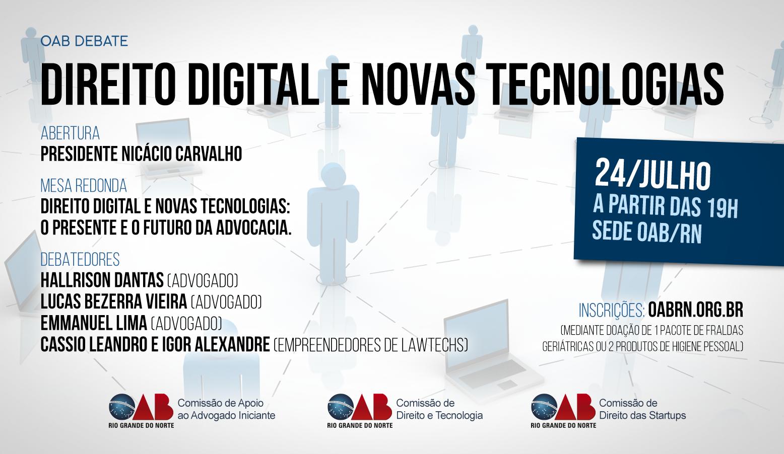 Inscrições abertas para OAB Debate Direito Digital e Novas Tecnologias