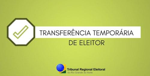 TRE inicia transferência eleitoral temporária no dia 17