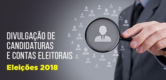 Eleições 2018 informações sobre candidatos podem ser consultadas no DivulgaCandContas