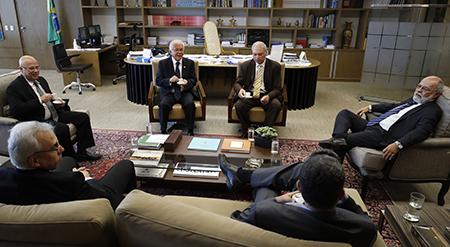 Presidente do TST recebe desembargadores escolhidos para lista tríplice de ministro
