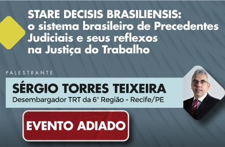 TRT-RN adia curso com desembargador Sérgio Torres Teixeira