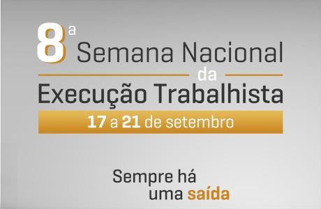 TRTRN 8ª Semana Nacional da Execução mobiliza Justiça do Trabalho