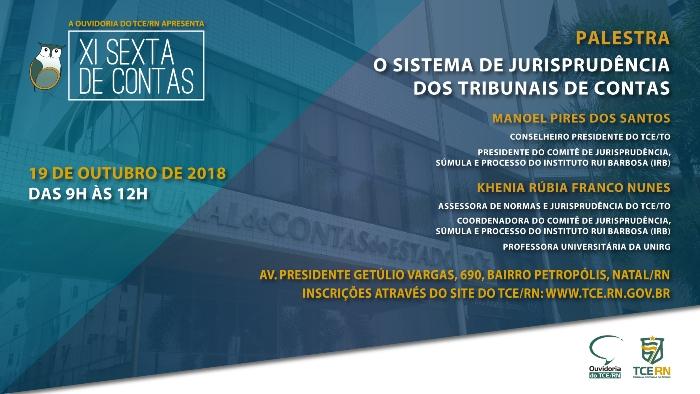 11ª edição do projeto Sexta de Contas debate sistema de jurisprudência dos TCs