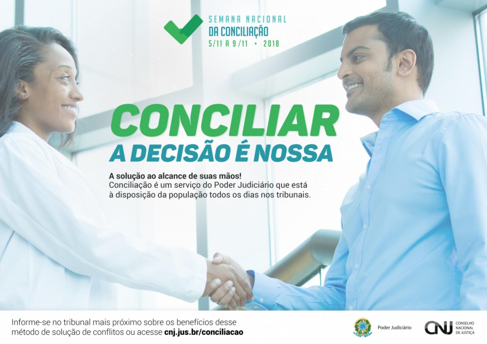 TJRN realiza 12ª Semana Nacional de Conciliação de 5 a 9 de novembro