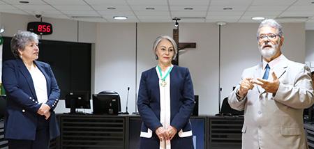 TRT-RN homenageia Lina Vieira com o Mérito Judiciário do Trabalho