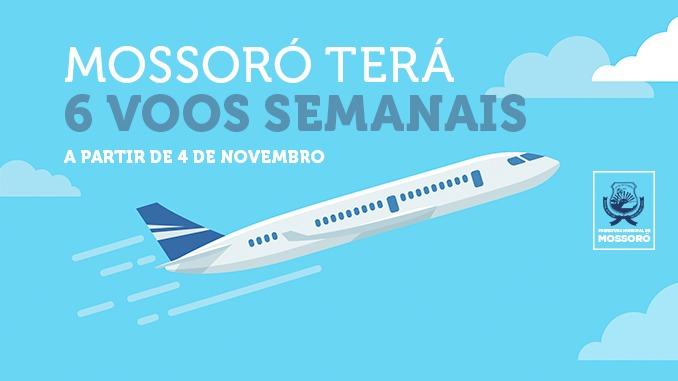 Azul Linhas Aéreas amplia oferta de voos semanais em Mossoró