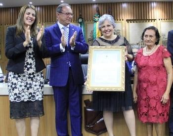 Desembargadora do TRT-RN Auxiliadora Rodrigues recebe título de cidadã natalense