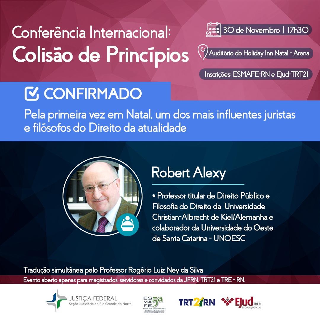 Dia 30, conferência internacional traz a Natal um dos mais influentes filósofos do direito do mundo