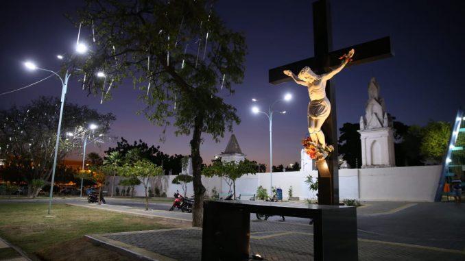 Mossoró Terra de Luz inicia montagem de primeiras lâmpadas da decoração natalina