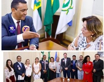 OAB Mossoró Otoniel reitera cooperação institucional em visita à prefeita