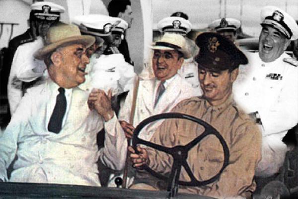 Encontro dos presidentes brasileiro Getúlio Vargas e americano Franklin Roosevelt, ocorrido há 76 anos em Natal - Crédito: Acervo fundacaorampa.com
