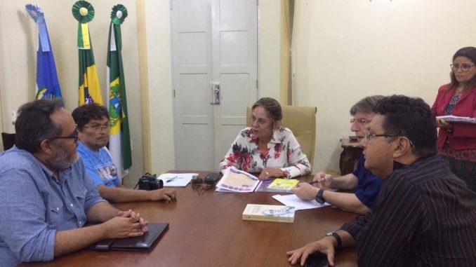 Prefeita de Mossoró recebe presidente da Fundação Vint-un Rosado