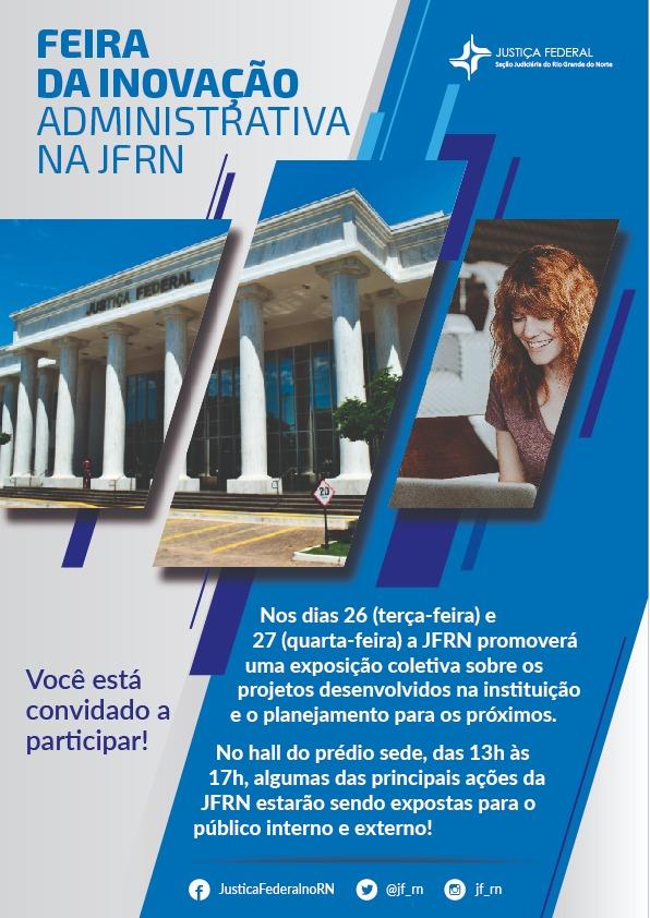 JFRN promove primeira edição da Feira de Inovação Administrativa