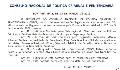 Juiz Federal do RN integra comissão que elaborará o Plano Nacional de Política Criminal