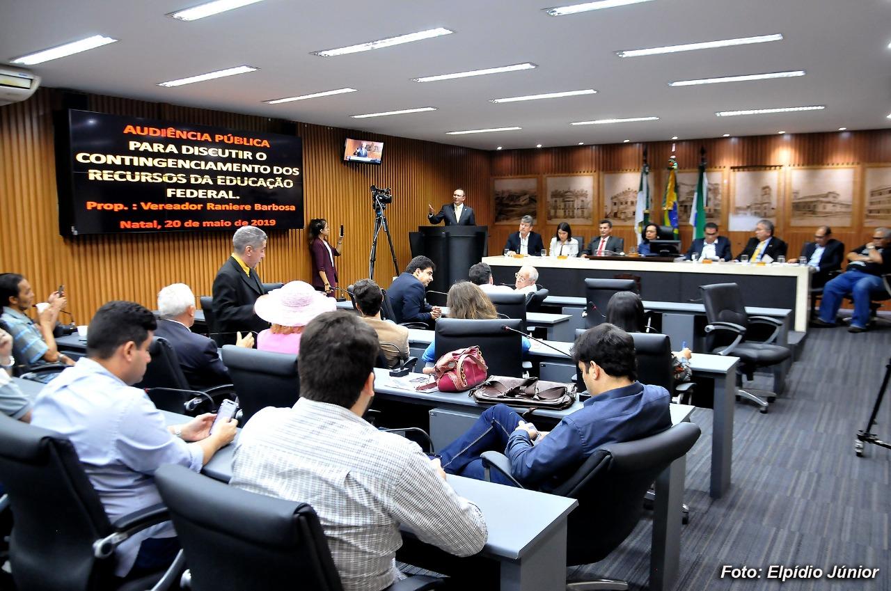 Contingenciamento de verbas das universidades federais é debatido na Câmara de Natal