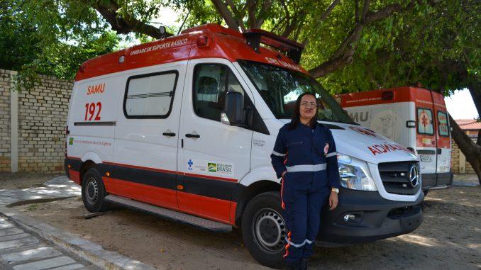 Secretaria de Saúde de Mossoró recebe ambulância nova para SAMU