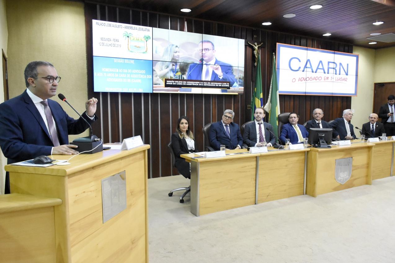 Advogados são homenageados pela Assembleia Legislativa do RN